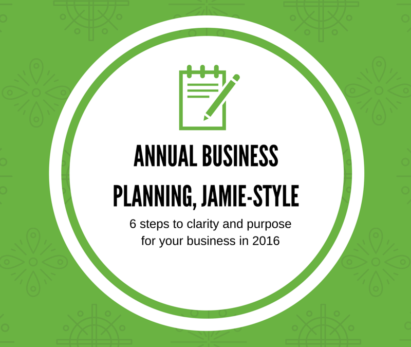 Annual Business Planning: Jamie-Style