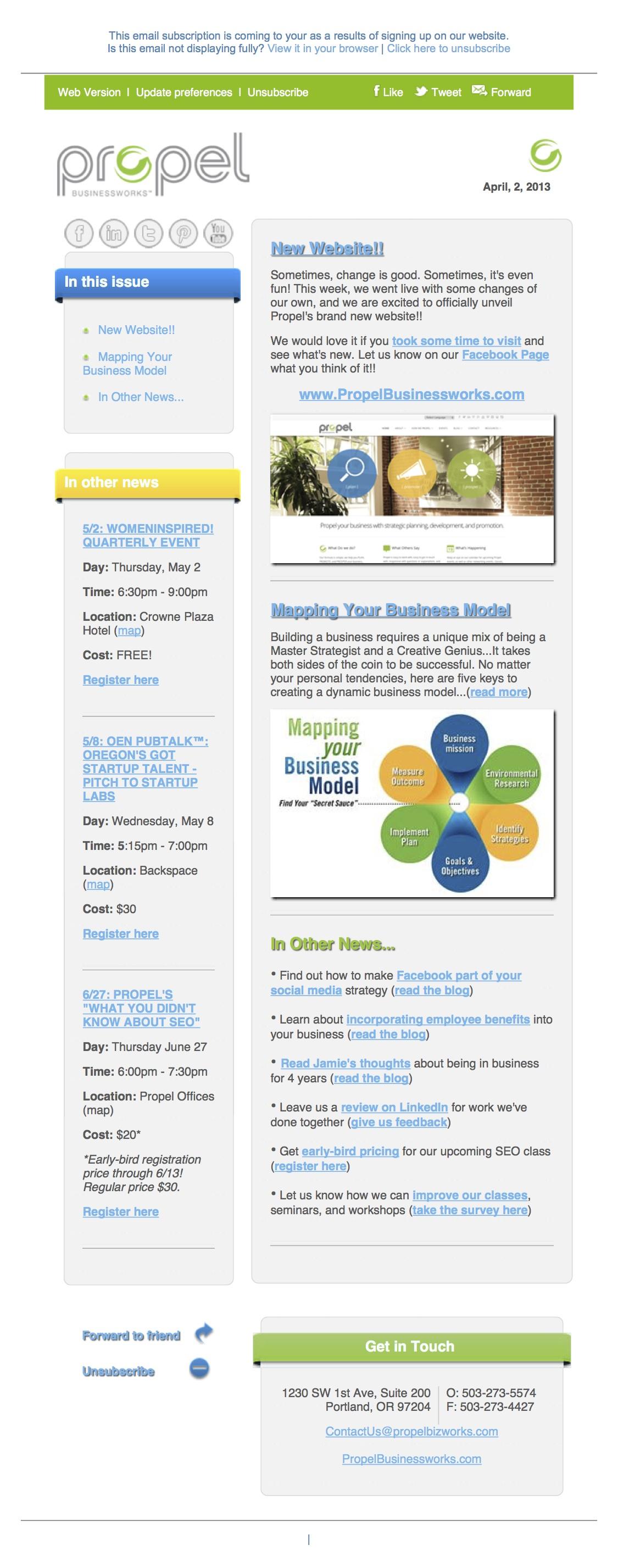 custom e-newsletter template, e-newsletter system, e-newsletter for business, e-newsletter template