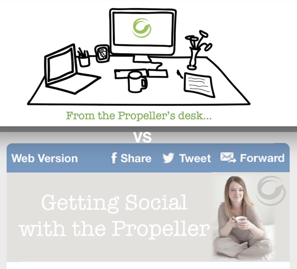 Propel's Enewsletter vs Social RSS Microblog