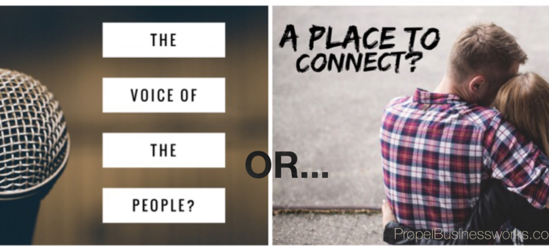 """The """"New"""" Social Media: Voice of the people or a place to connect?"""