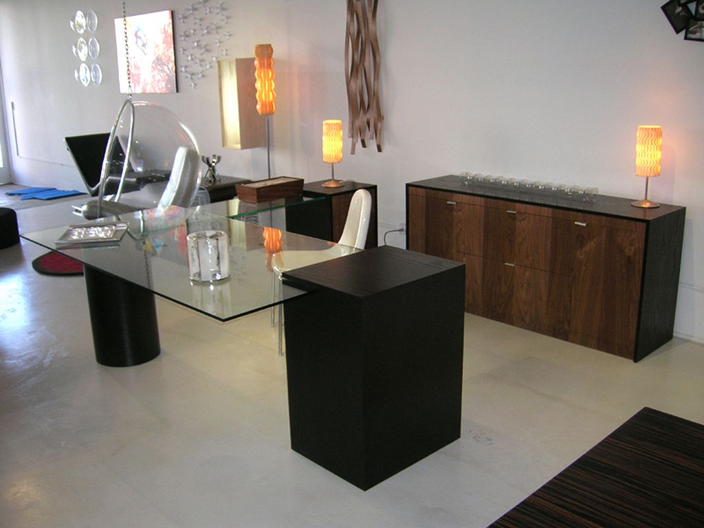 Modern office table with glass top - 8 Modern Lighting Ideas For Home Office From Jessica Max